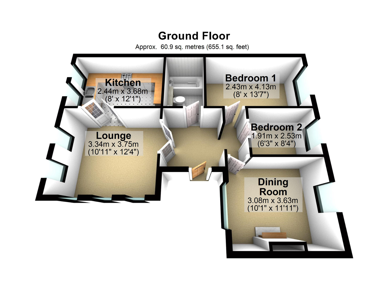 Floorplan of Eddisford Drive, Culcheth, Warrington, WA3 4EZ