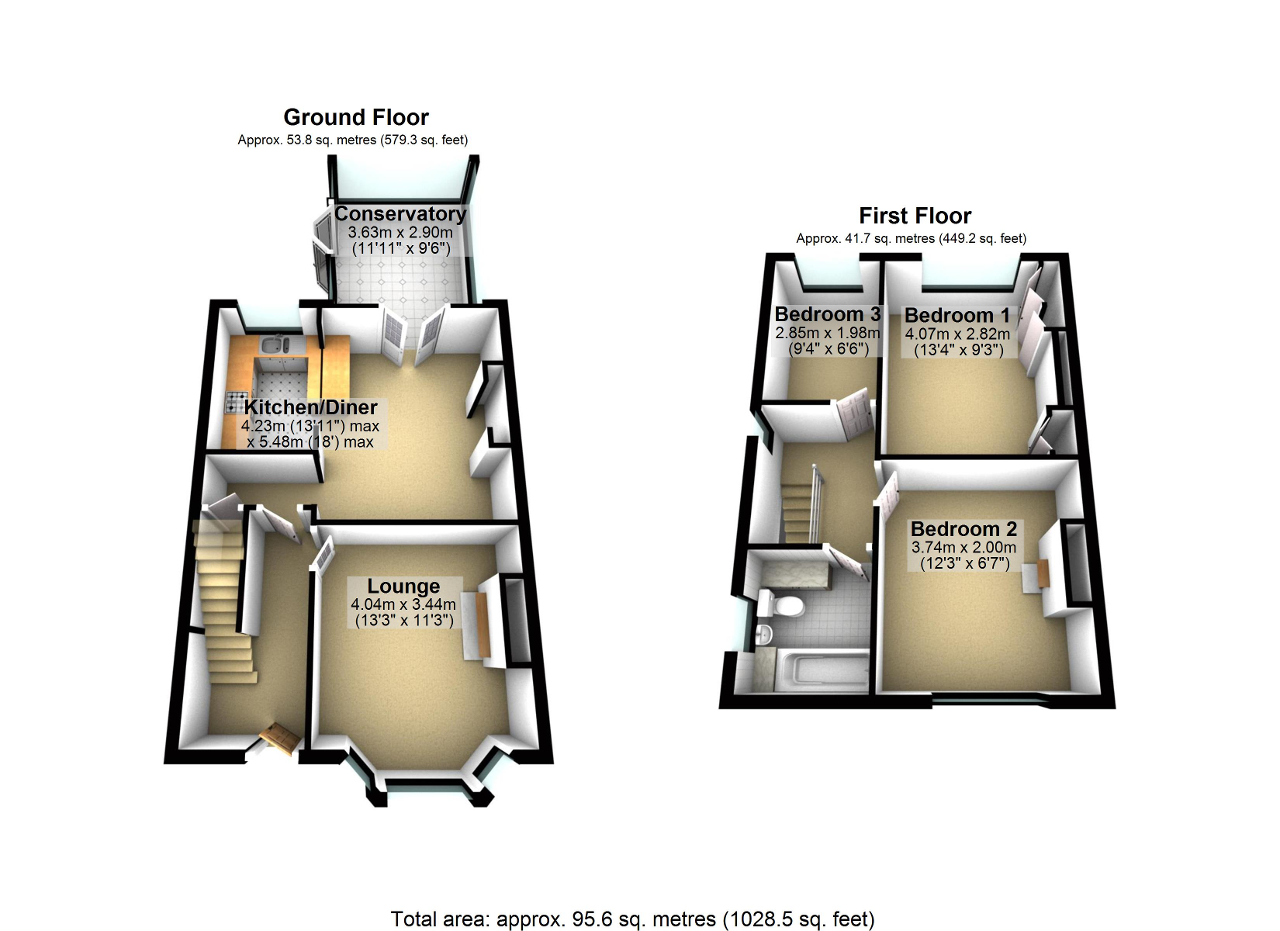 Floorplan of Hurst Mill Lane, Glazebury, Warrington, WA3 5NR