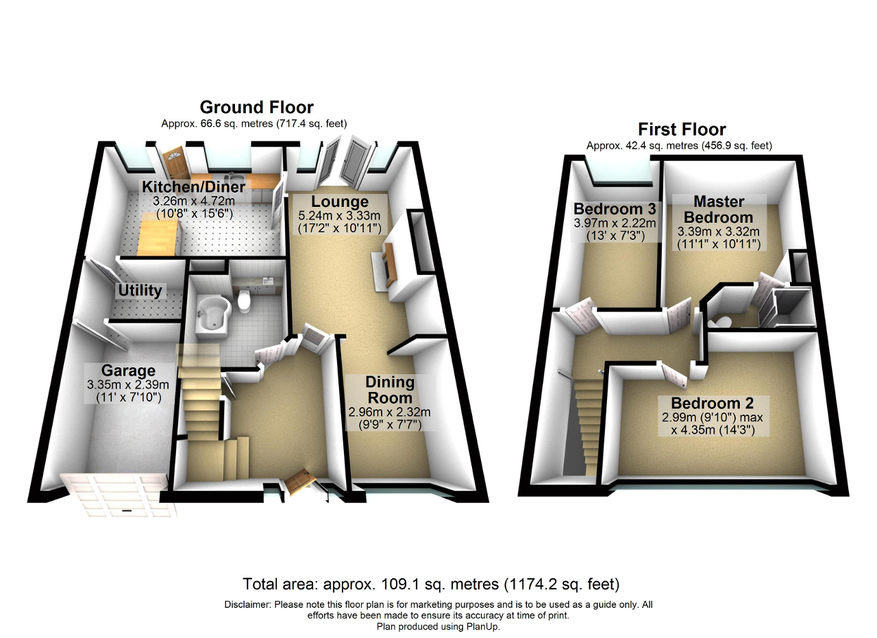Floorplan of Browmere Drive, Croft, Warrington, WA3 7HS
